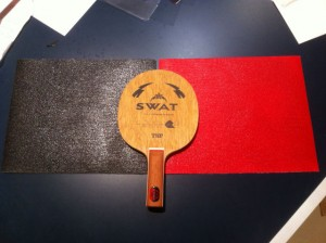 Sandpaper onto TSP Swat blade