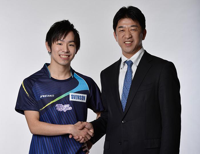 Koki Niwa (left) with Koji Matsushita